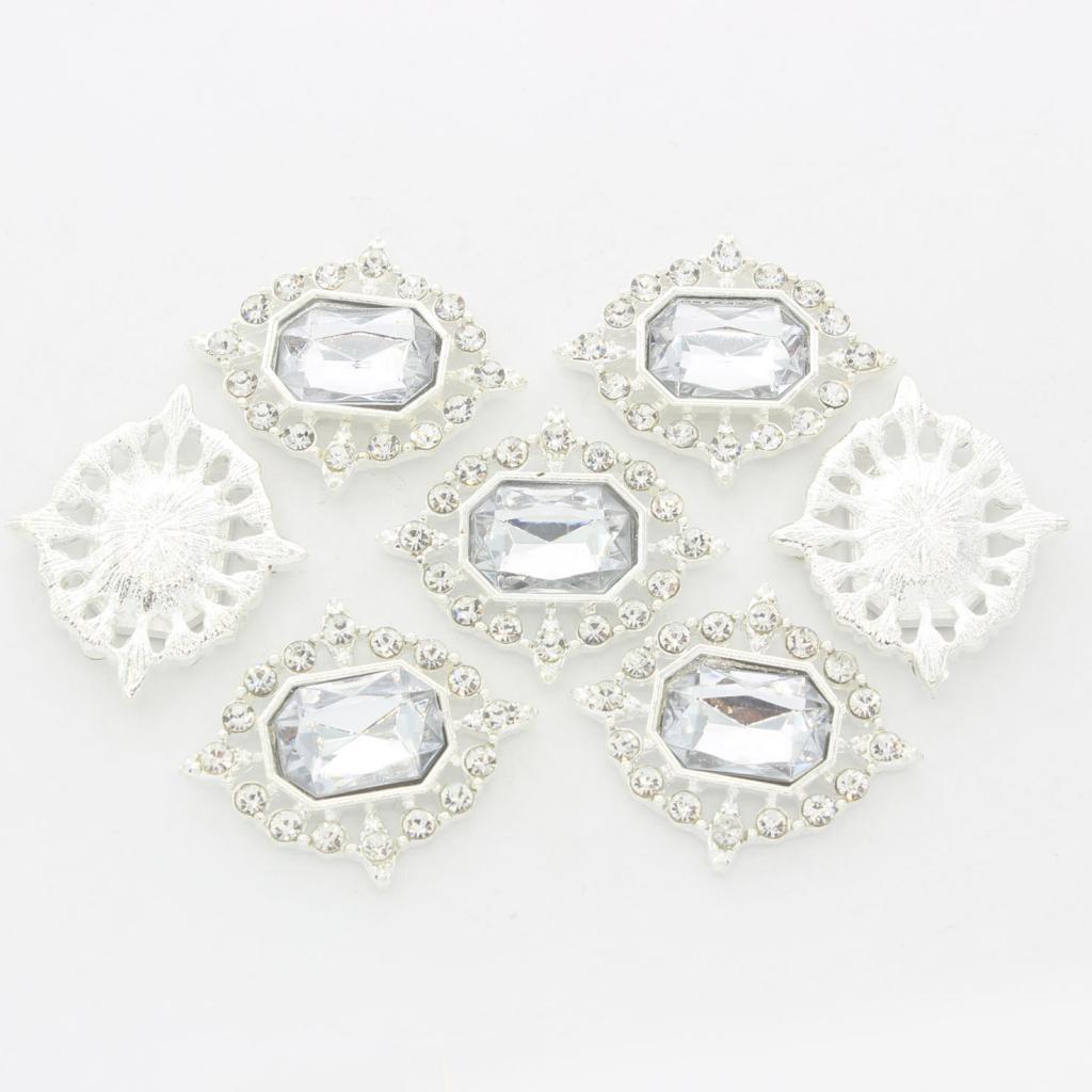 5-Pieces-Acrylique-plat-soutenu-Strass-Cabochons-Bijoux-Decoration miniature 5