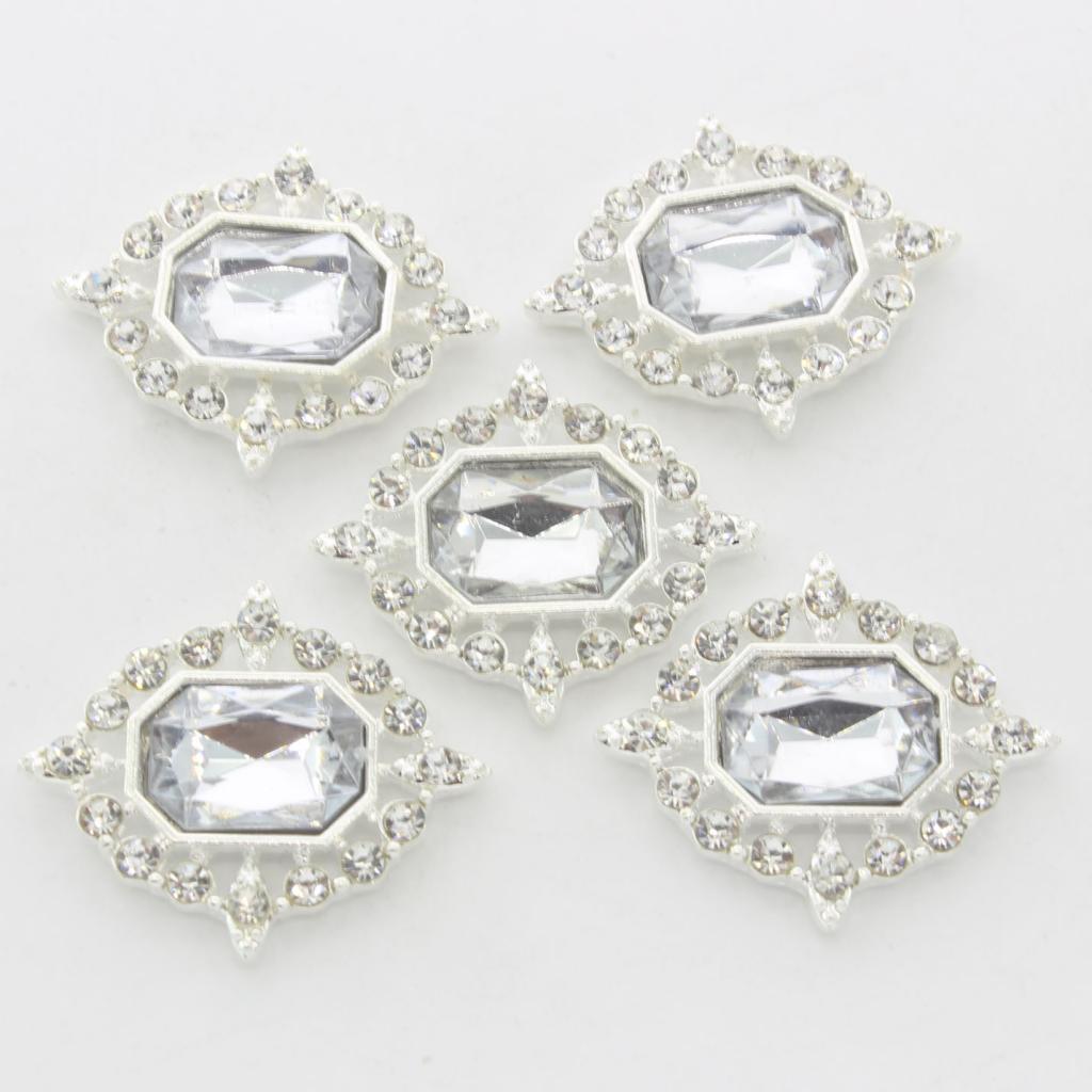 5-Pieces-Acrylique-plat-soutenu-Strass-Cabochons-Bijoux-Decoration miniature 6