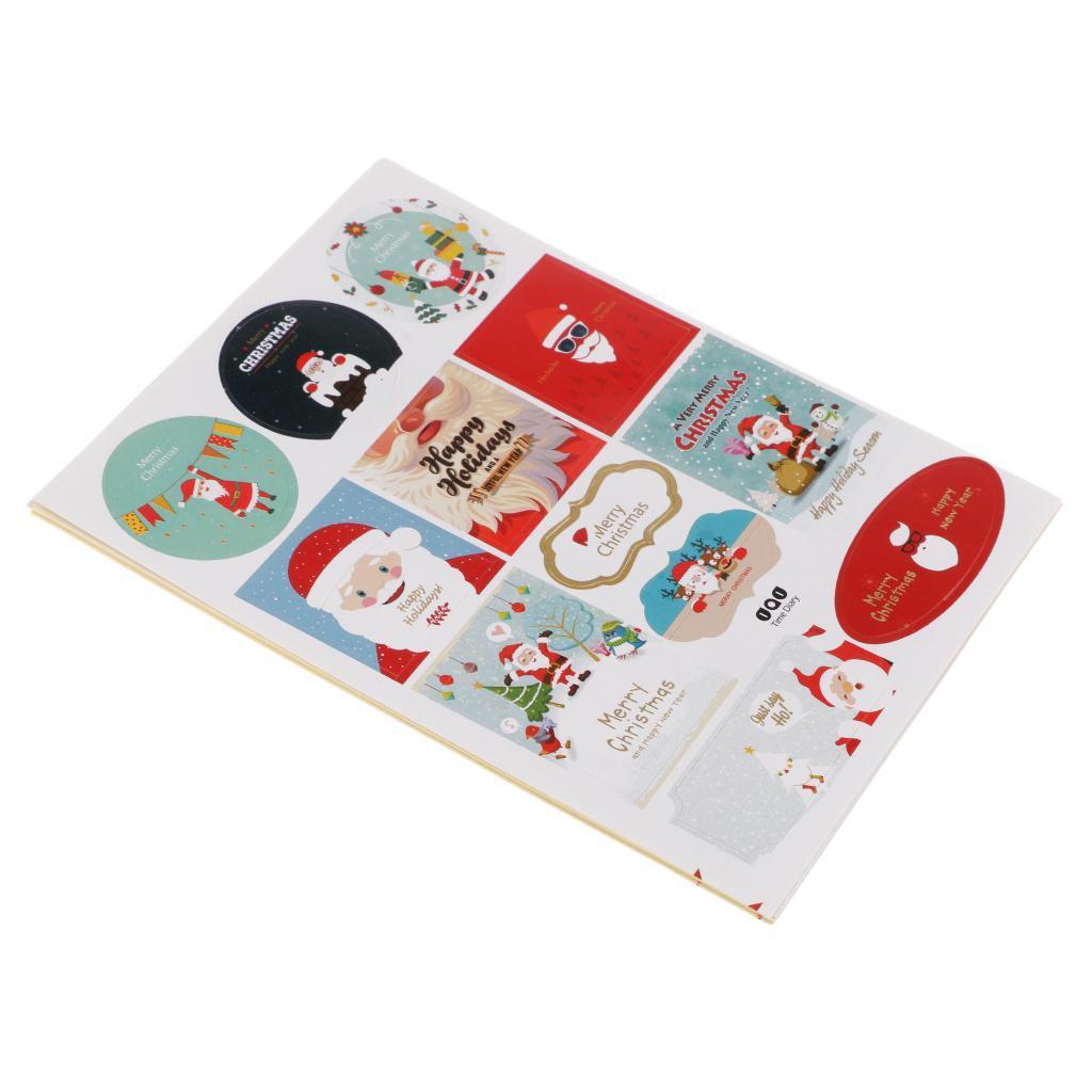 12pcs-adesivo-autoadesivo-che-timbra-oro-Patches-Applique-Natale miniatura 5