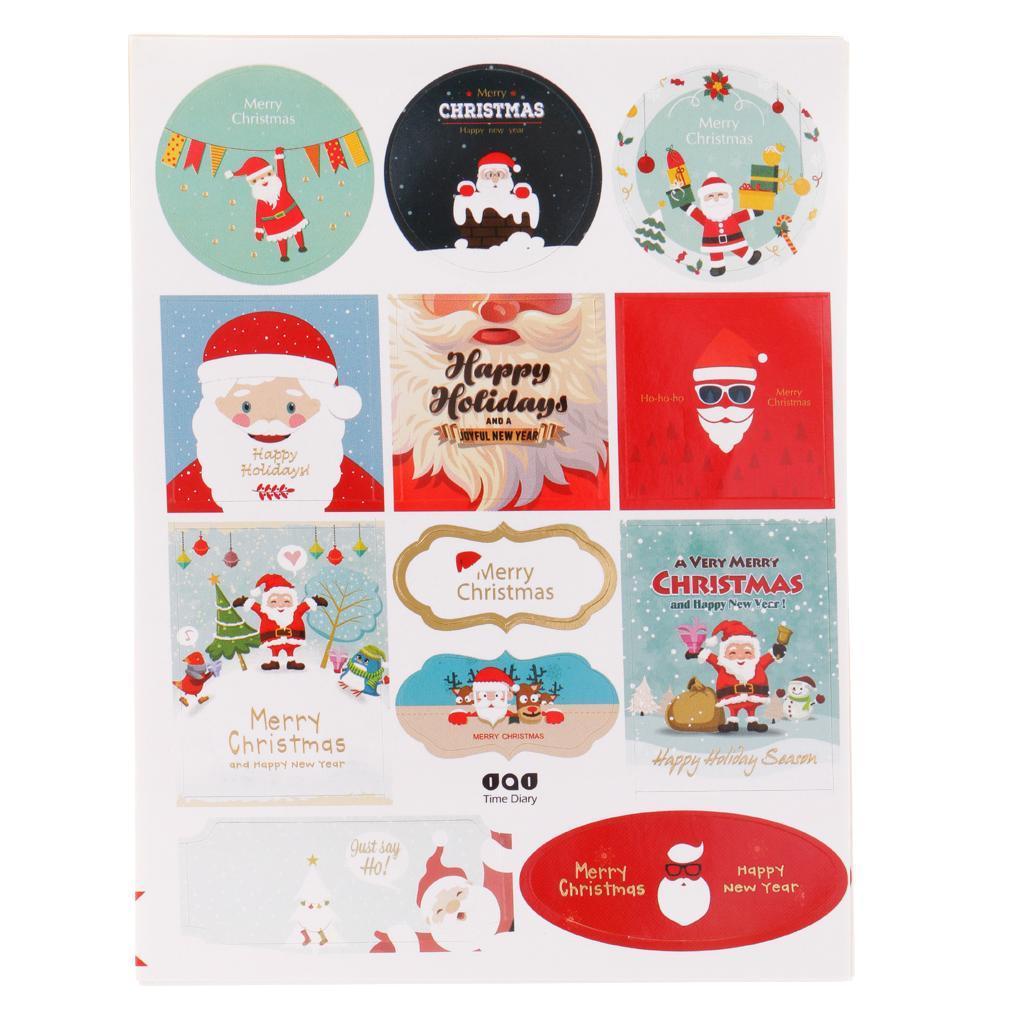 12pcs-adesivo-autoadesivo-che-timbra-oro-Patches-Applique-Natale miniatura 3