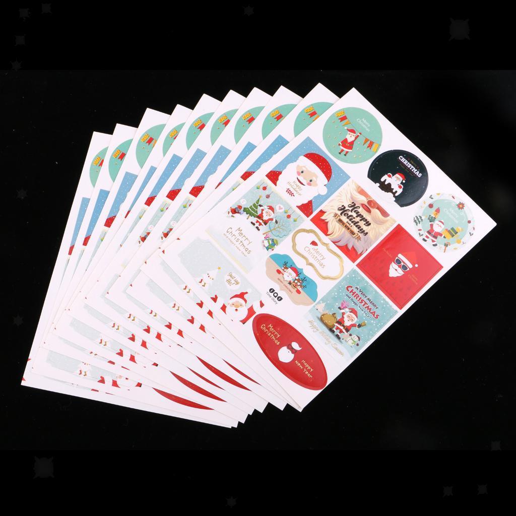 12pcs-adesivo-autoadesivo-che-timbra-oro-Patches-Applique-Natale miniatura 4