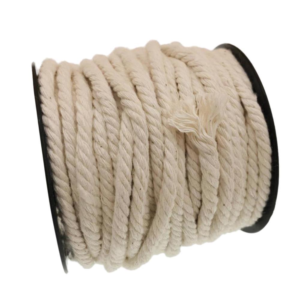 5 Sizes Natural Cotton Twisted Cord Rope Sash Craft Macrame Artisan String