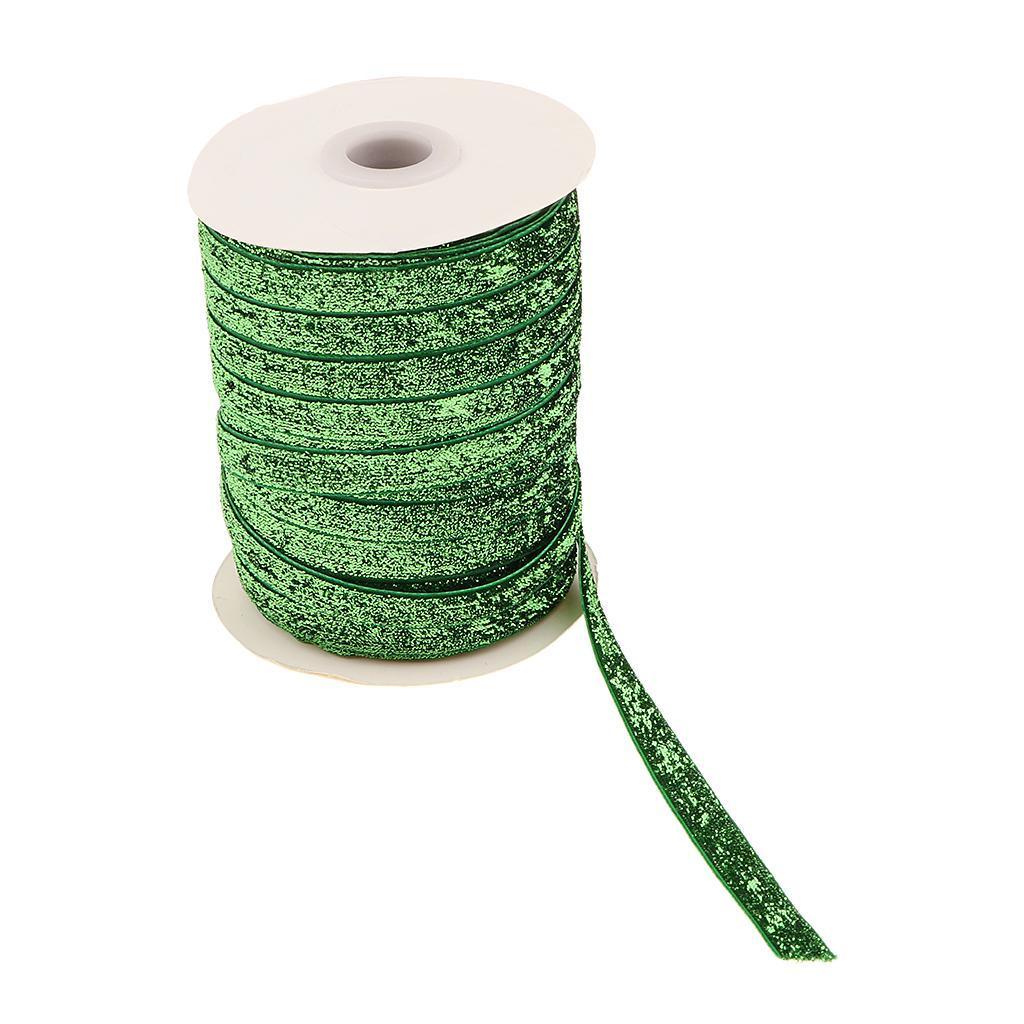 49Yds-3-8-034-Glitter-Velvet-Grosgrain-Ribbon-for-DIY-Crafts-Headband-Clips-Bow thumbnail 8