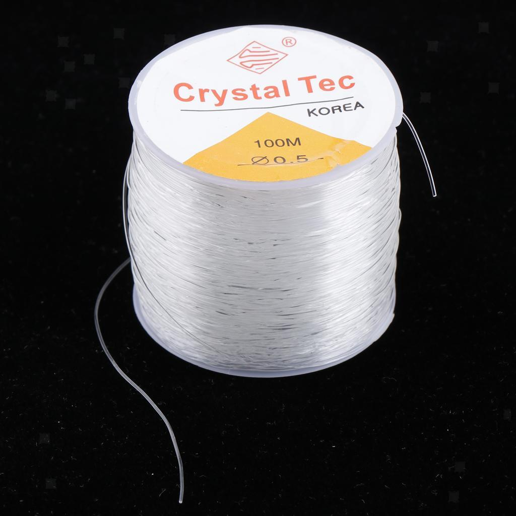 Clear Bead and Jewelry Cord 100 m