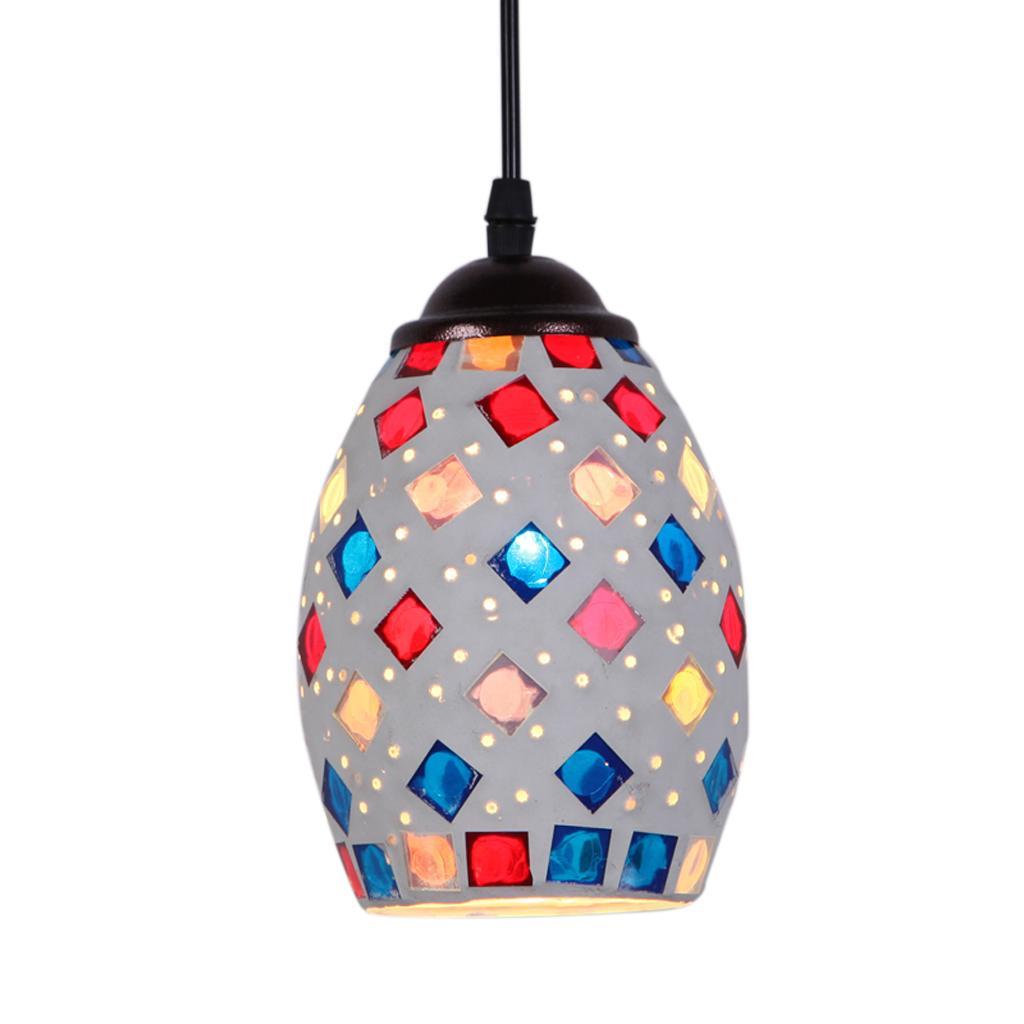 Abat-jour Lustre Industriel Lampe Suspendue Cage Ombre pour Plafonnier E27
