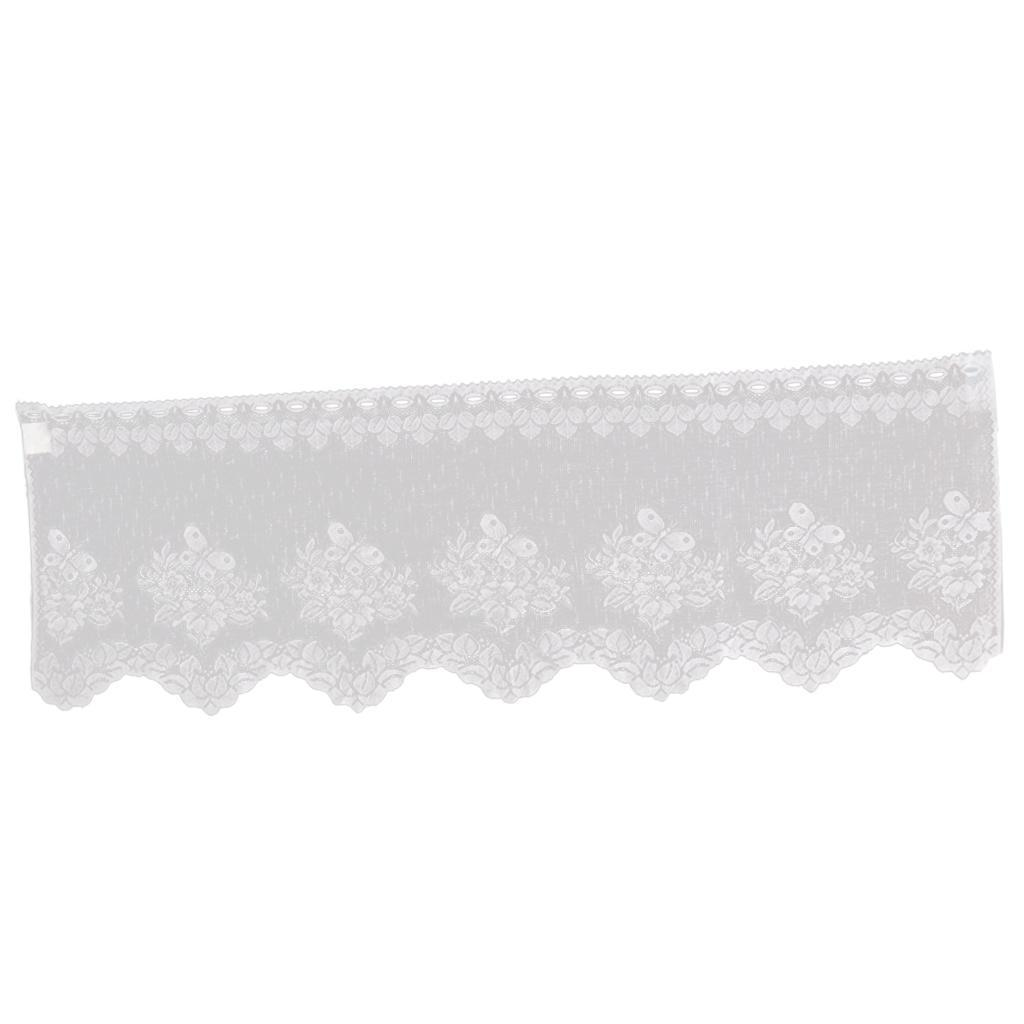 Lace Tier Cafe Curtains Kitchen Window Half Short Curtain