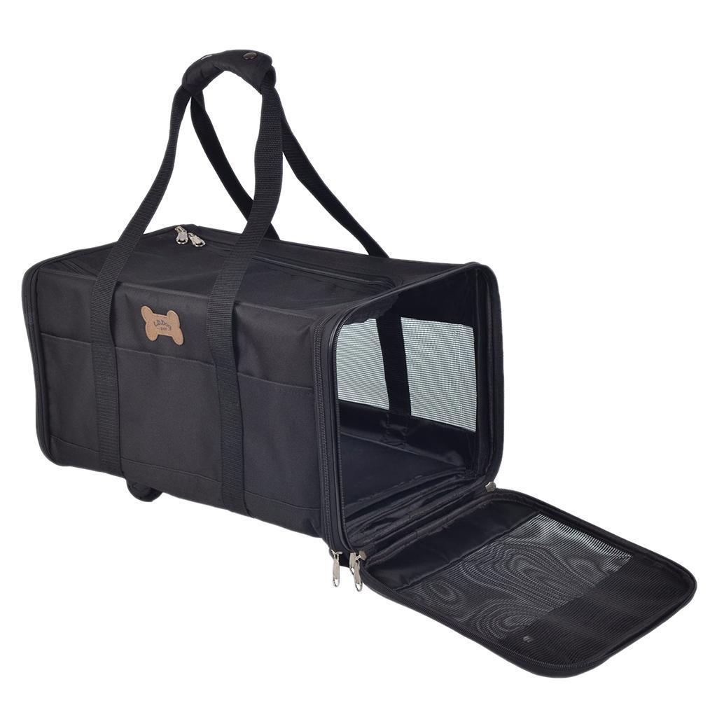 Borsa a mano pieghevole pieghevole pieghevole per cani con tracolla, viaggio in auto, aereo, 5966dd