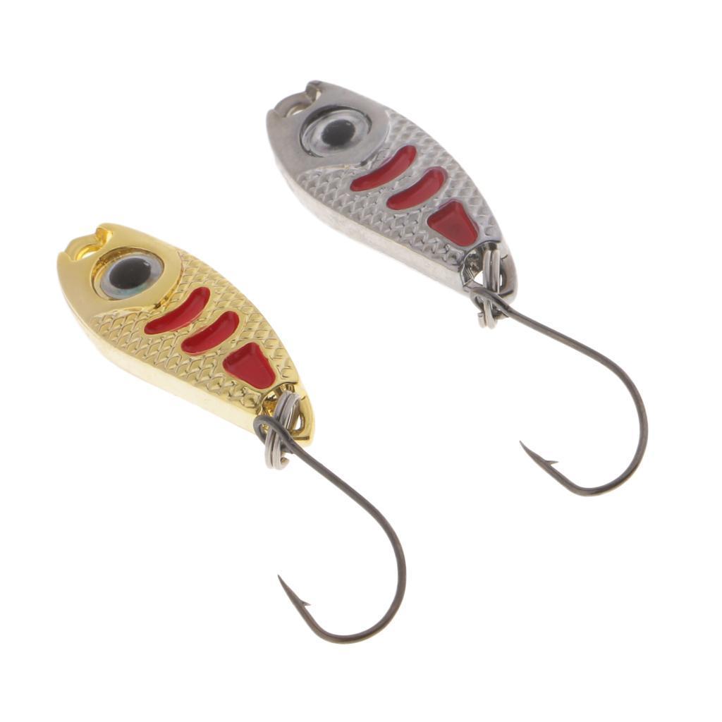 2-Pcs-Cucchiai-In-Metallo-Esche-Da-Pesca-Con-PaillettesRichiami-Rigidi-Con miniatura 7