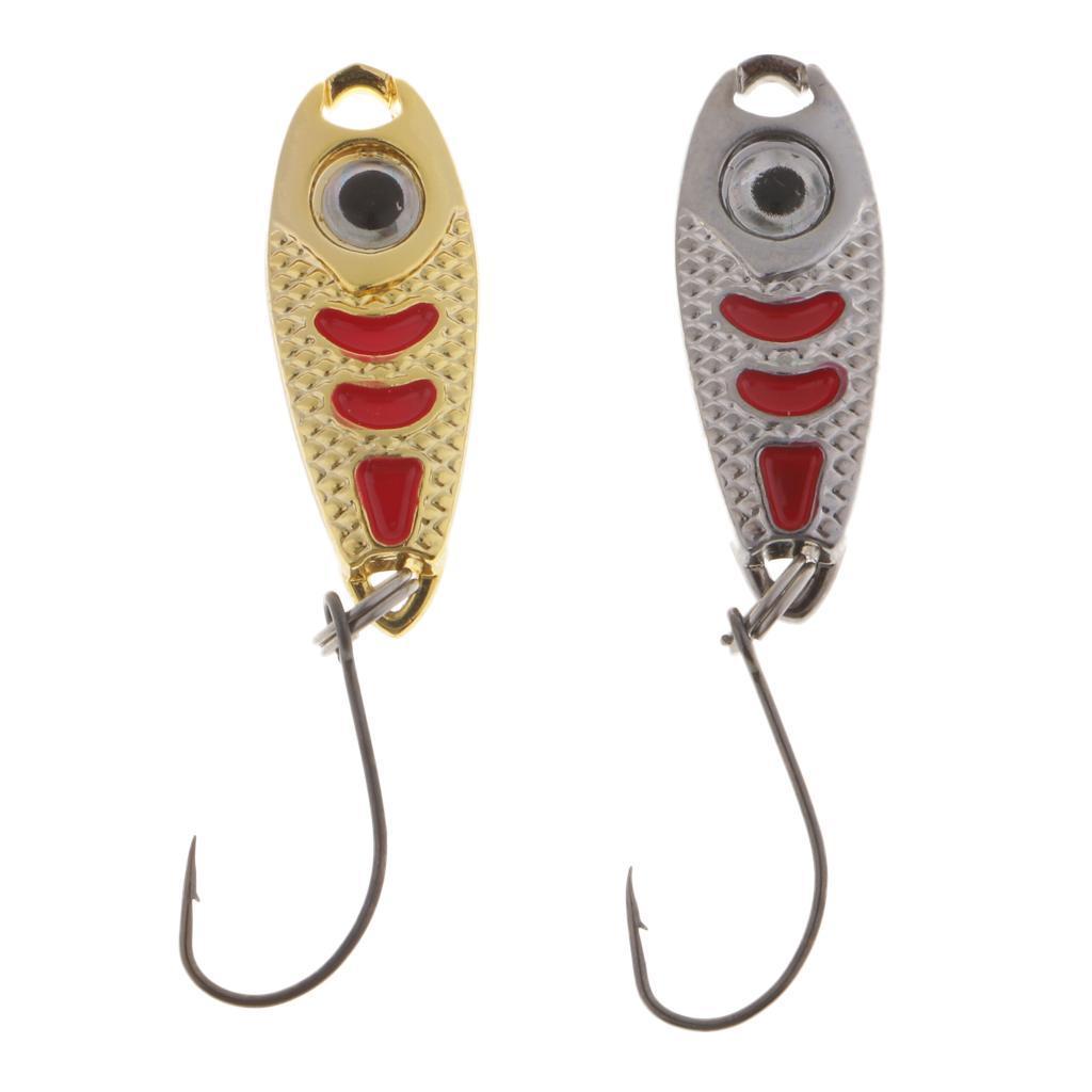 2-Pcs-Cucchiai-In-Metallo-Esche-Da-Pesca-Con-PaillettesRichiami-Rigidi-Con miniatura 8