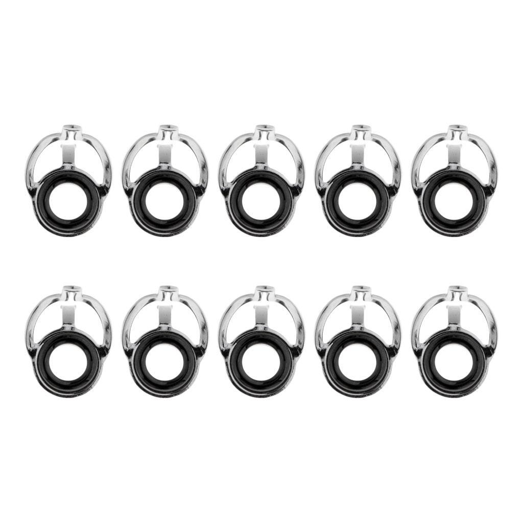 10pcs Ceramic Ring Eyes Fishing Rod Guide  Free Stainless Steel Frame
