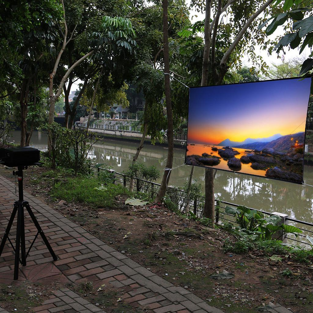 Durable-Outdoor-Portable-Projector-Screen-Soft-Home-Movie-Screen-White thumbnail 10