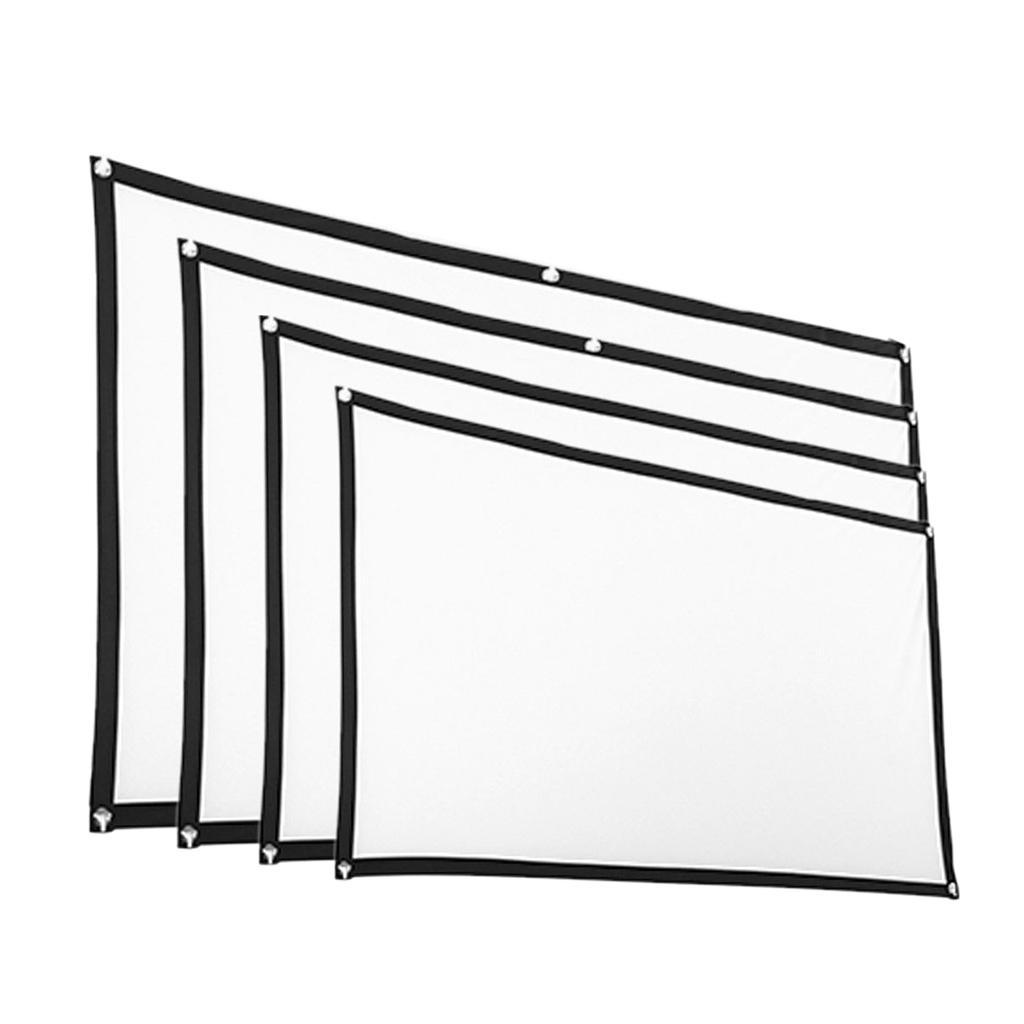 Durable-Outdoor-Portable-Projector-Screen-Soft-Home-Movie-Screen-White thumbnail 9