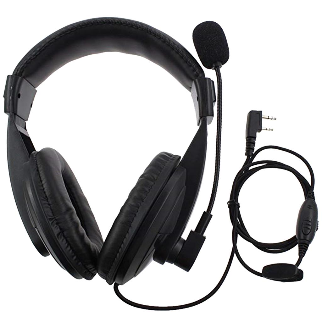 PTT MIC Headphone Headset for Baofeng 777S RT21/22/5R RD/5R/A 888S/82HP