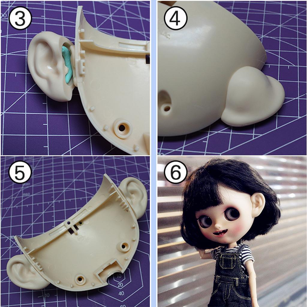 Fashion Plastic Heart-Shape Ear Stud Accessories for 12inch Blythe Takara Dolls