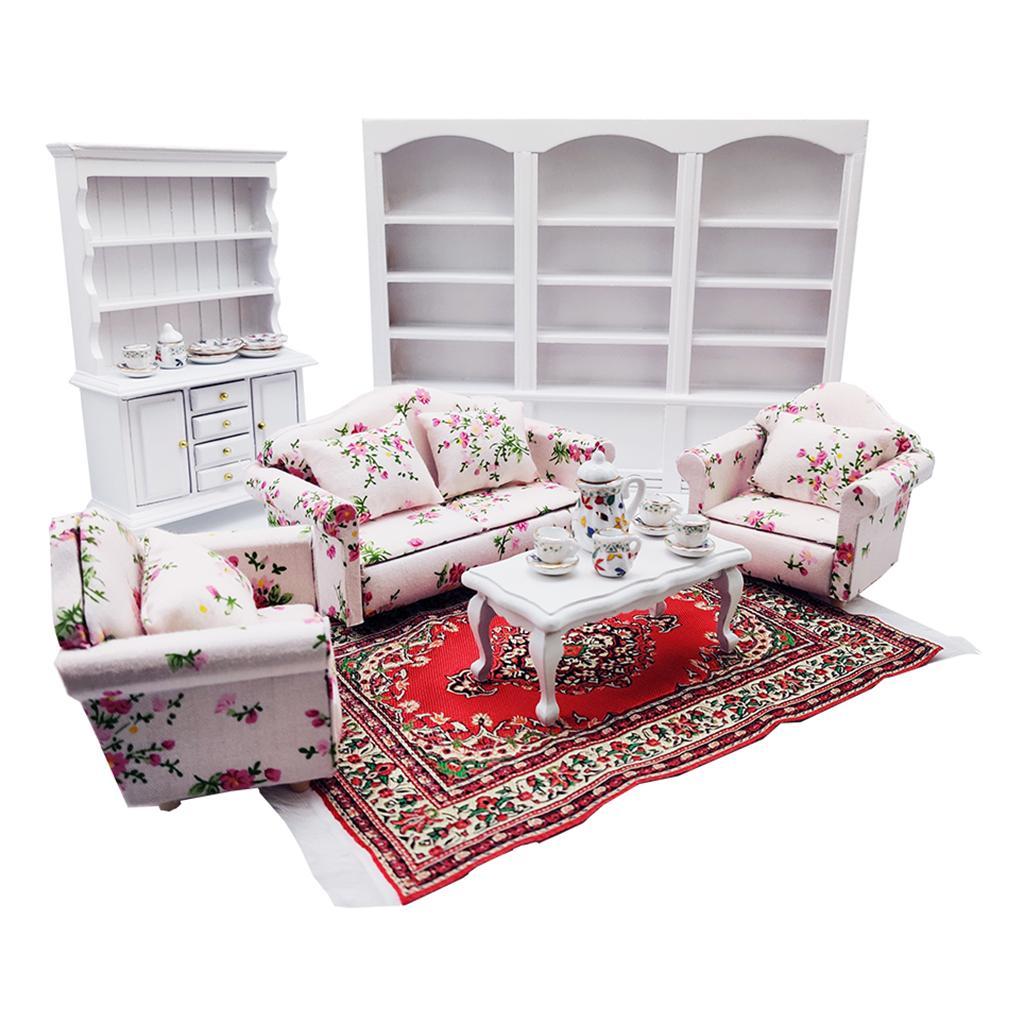 Combo von 8 Items 1 12 Maßstab Puppenhaus Miniatur Wohnzimmer Möbel
