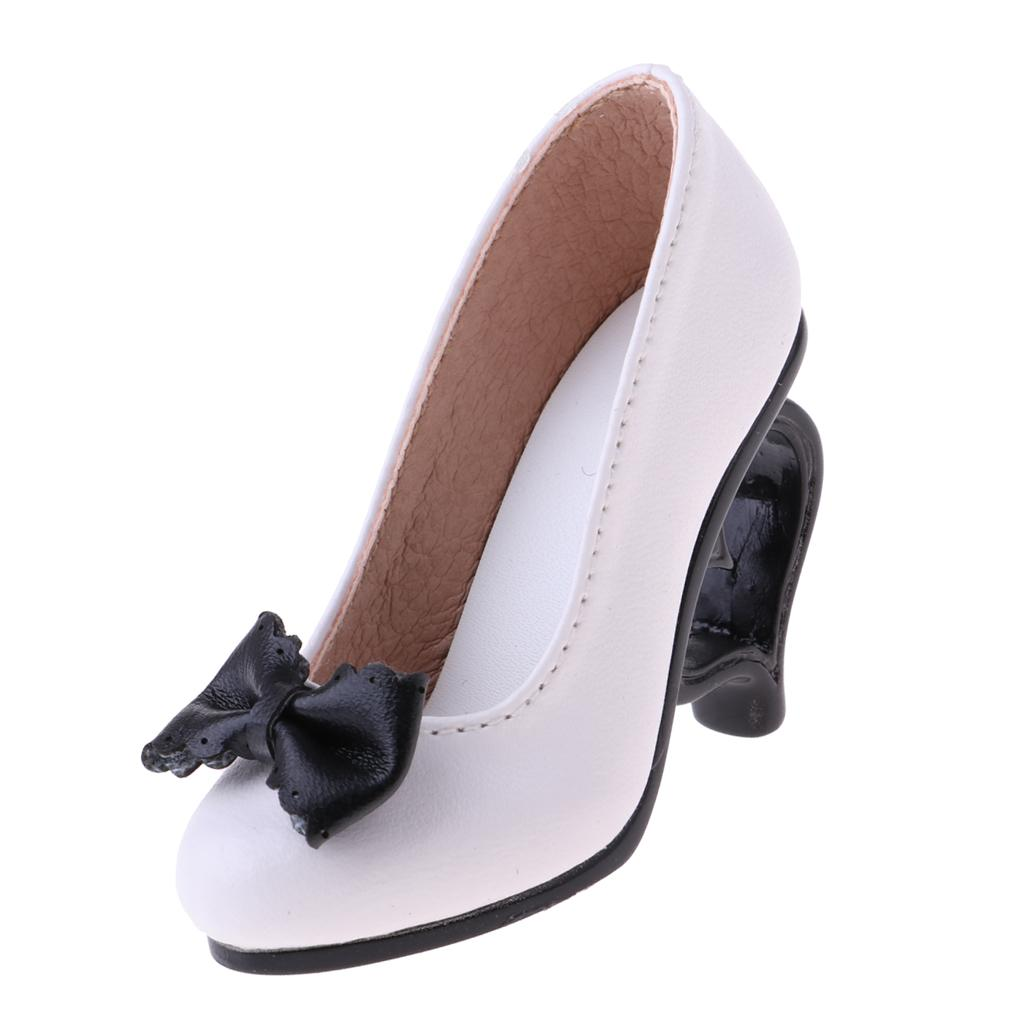 1/3 Doll High Heels Shoes Sandals W. Bowknot For BJD SD16 Doll Clothes White