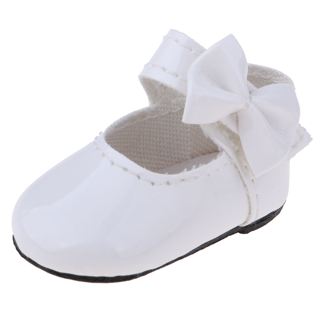 1 6 Bjd Doll Shoes Flats For Dollfie For Dod Dz Leather Bowknot Lolita Shoes