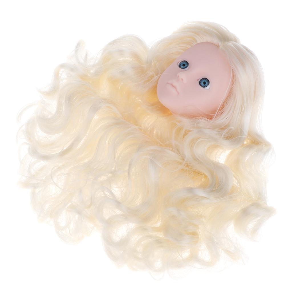 1/4 BJD Head Sculpt Mould Light Gold Hair Kit Female Figures Custom Parts For OB Kurhn for DOD DIY Customized Body Accessories