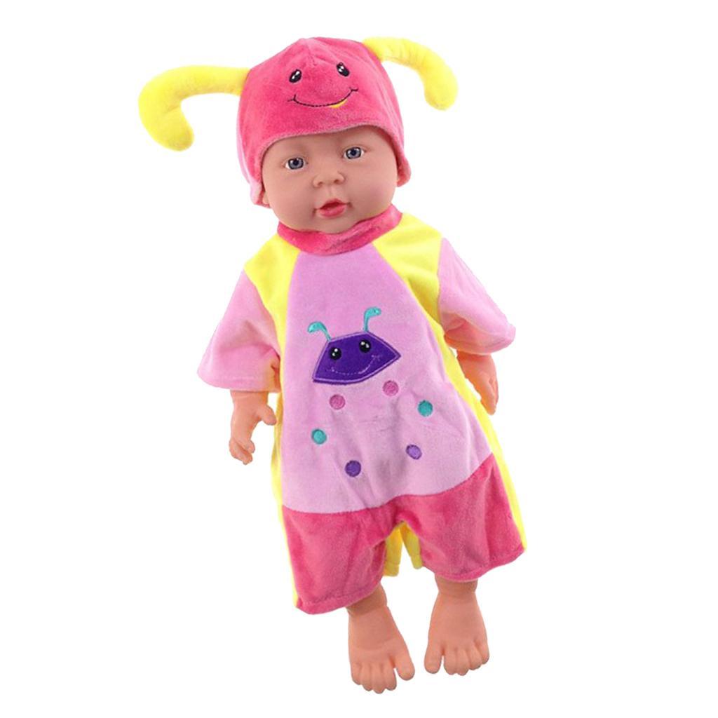 41cm Lifelike Baby Girl Doll Vinyl White European Polish Newborn Infant Doll Pink