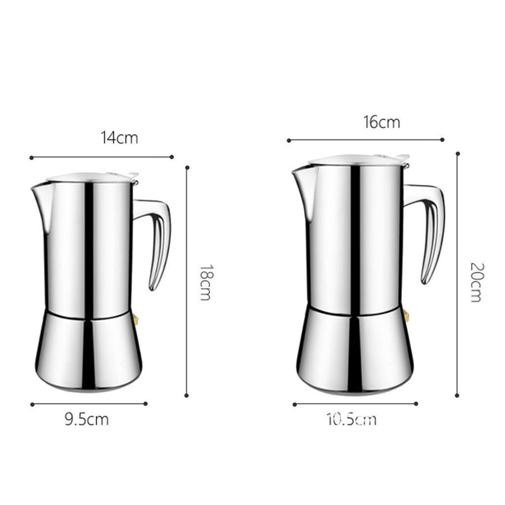 Stainless-Steel-Stovetop-Espresso-Coffee-Maker-Pot-Moka-Latte-200ml-300ml thumbnail 3