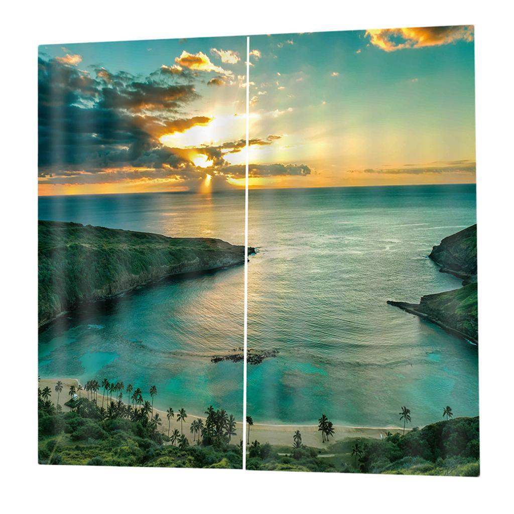 Ocean Theme 3d Digital Print Window Drapes 2 Panel Set Bedroom Curtains Ebay