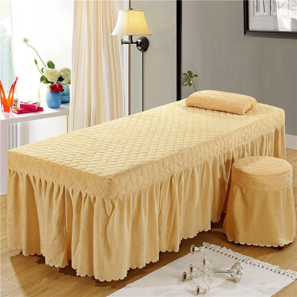 SPA-Massage-Bed-Bedding-Linen-Set-Table-Skirts-Pillow-Case-Stool-Cover thumbnail 24