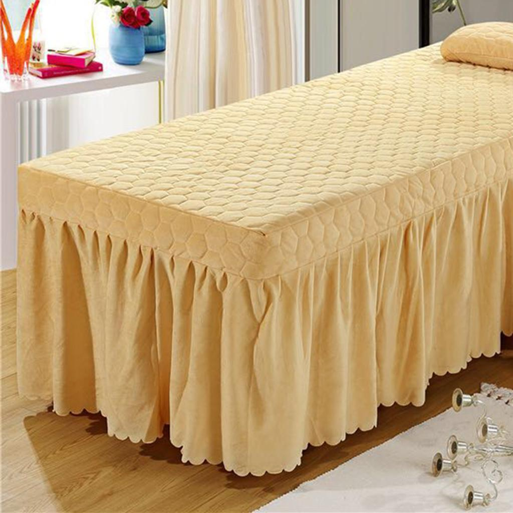 SPA-Massage-Bed-Bedding-Linen-Set-Table-Skirts-Pillow-Case-Stool-Cover thumbnail 25
