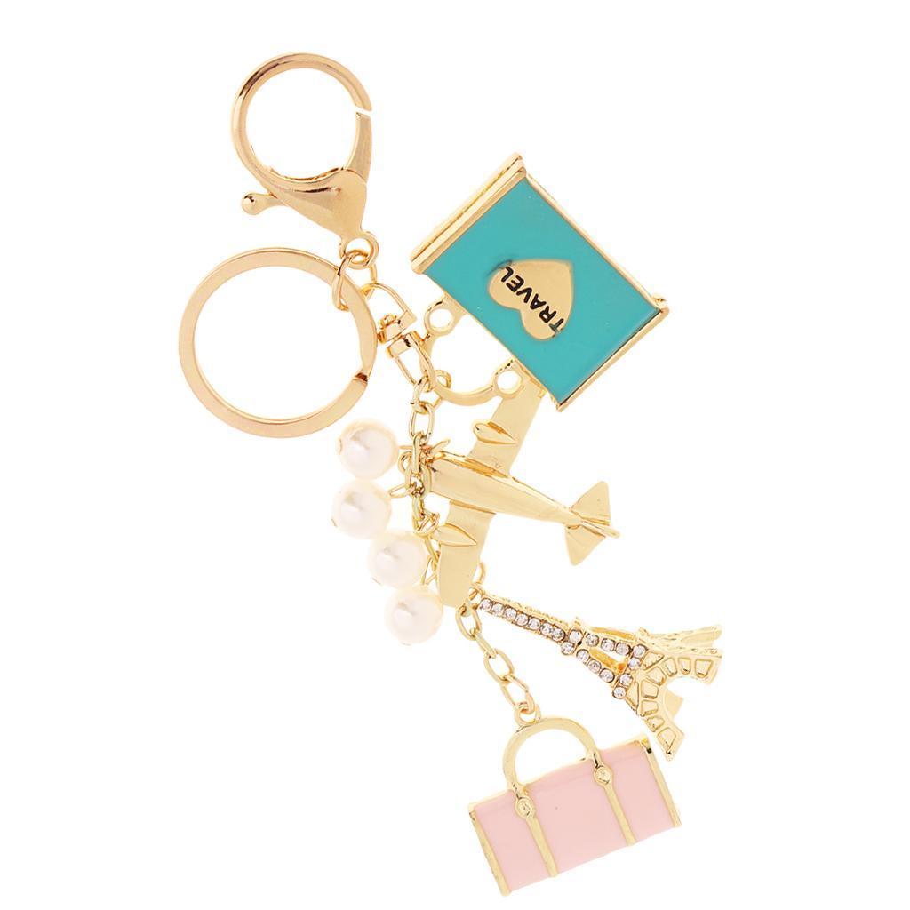 Alloy-Fashion-Flamingo-Rhinestone-Keyring-Bag-Hanging-Decor-Women-Keychain thumbnail 19