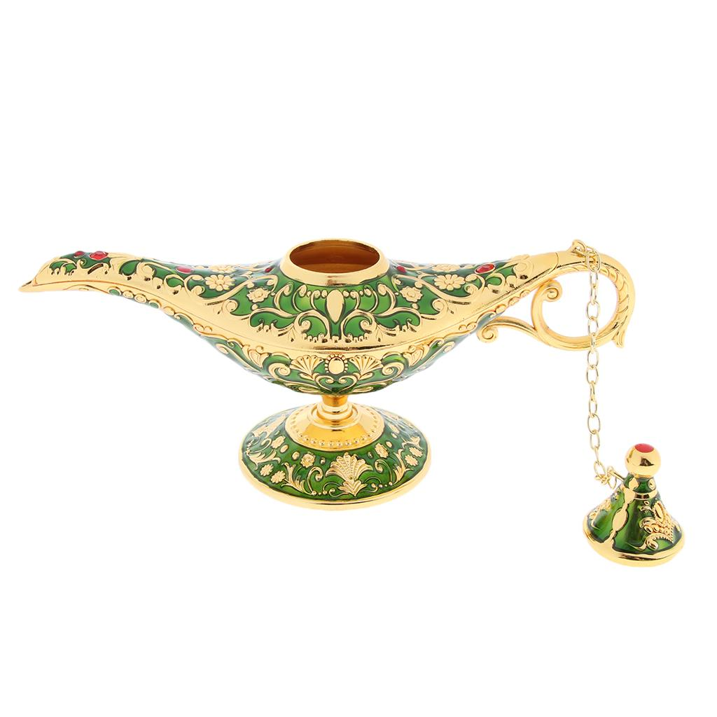Collectable Aladdin Lamp Stand Magic Genie Light Wishing Pot Decoration Gift