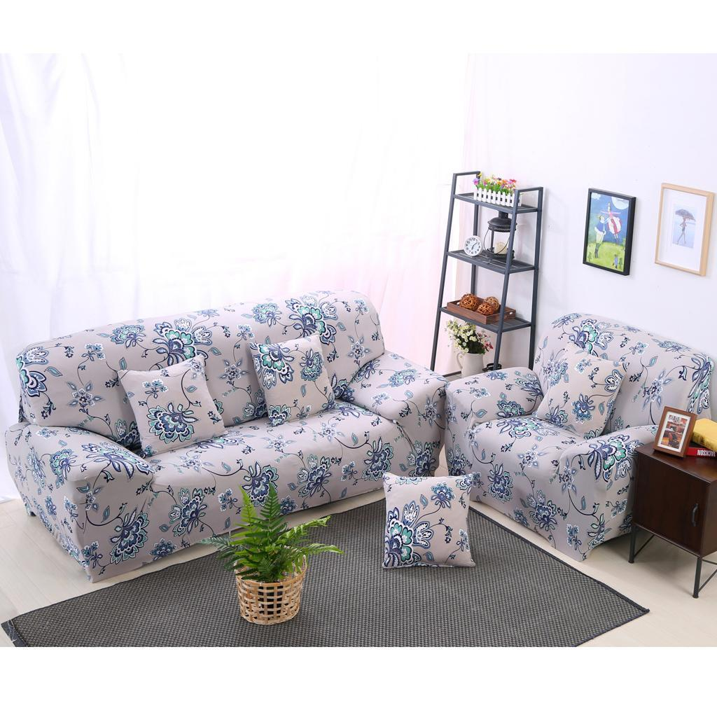 3 Seater Floral Modern Stretch Sofa Covers Slipcover