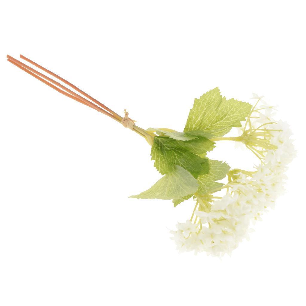 Mini-Bouquet-Artificiel-Faux-Soie-Hortensia-Fleurs-Mariage-Anniversaire miniature 5