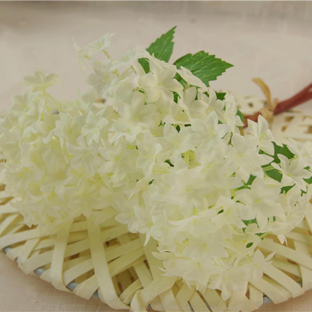 Mini-Bouquet-Artificiel-Faux-Soie-Hortensia-Fleurs-Mariage-Anniversaire miniature 3