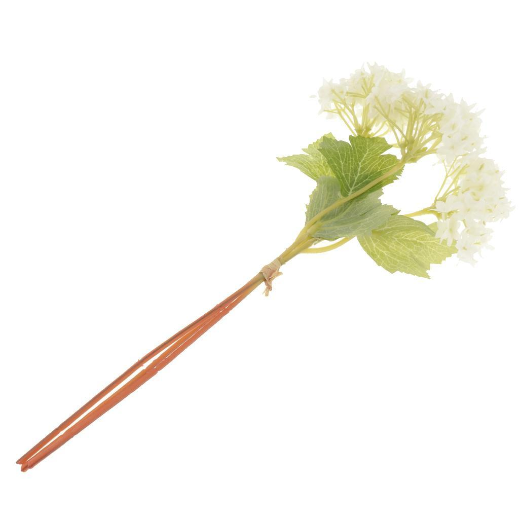 Mini-Bouquet-Artificiel-Faux-Soie-Hortensia-Fleurs-Mariage-Anniversaire miniature 4