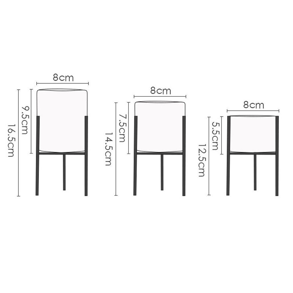 miniatura 32 - Piantana-Ferro-Giardino-Succulenta-Portavasi-Per-Fioriera-Casa-Balcone