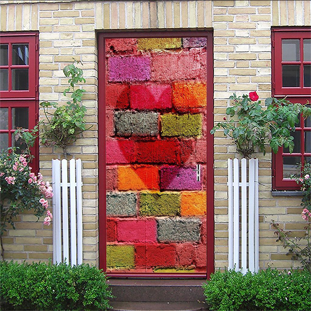 thumbnail 9 - 3D Self Adhesive Door Sticker DIY Decor Poster for Home Room Decor
