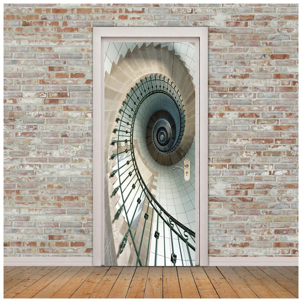 thumbnail 30 - 3D Self Adhesive Door Sticker DIY Decor Poster for Home Room Decor