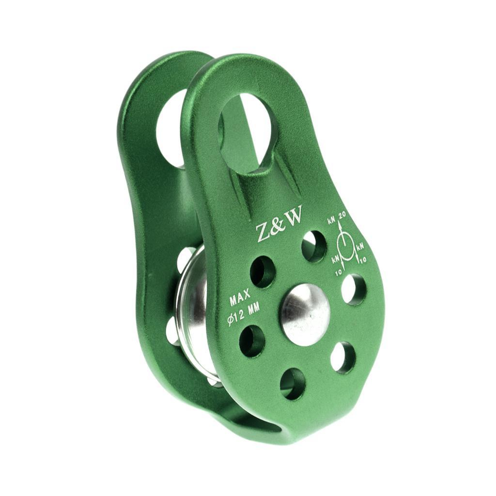 Fits 8-12mm Rope 20KN Fixed Single Pulley for Rock Climbing Caving Rescue