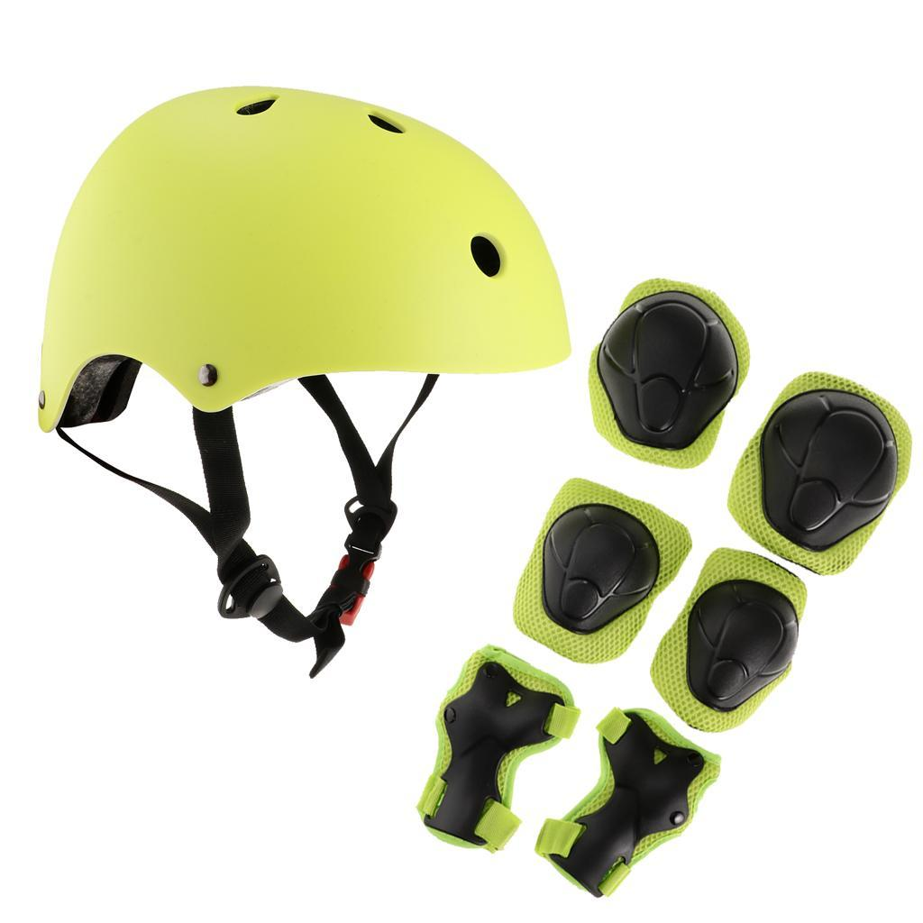 Kids-Scooter-Cycling-Skateboard-Helmet-Wrist-Knee-Elbow-Pad-Protector thumbnail 12