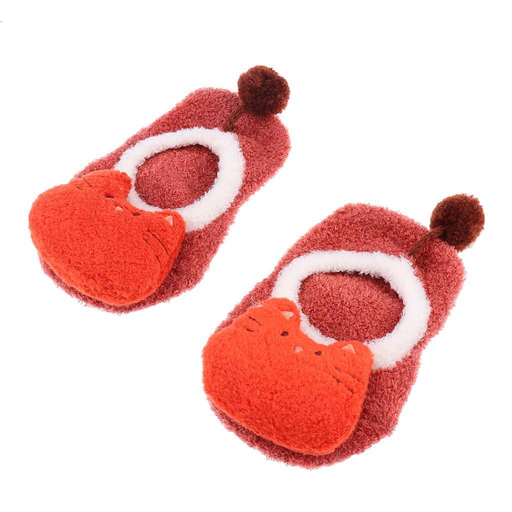 Chaussons-Bebe-Chaussettes-Bateaux-Antiderapant-Cartoon-Chaud-Pompon-Coton-Doux miniature 35