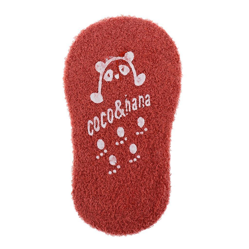 Chaussons-Bebe-Chaussettes-Bateaux-Antiderapant-Cartoon-Chaud-Pompon-Coton-Doux miniature 39