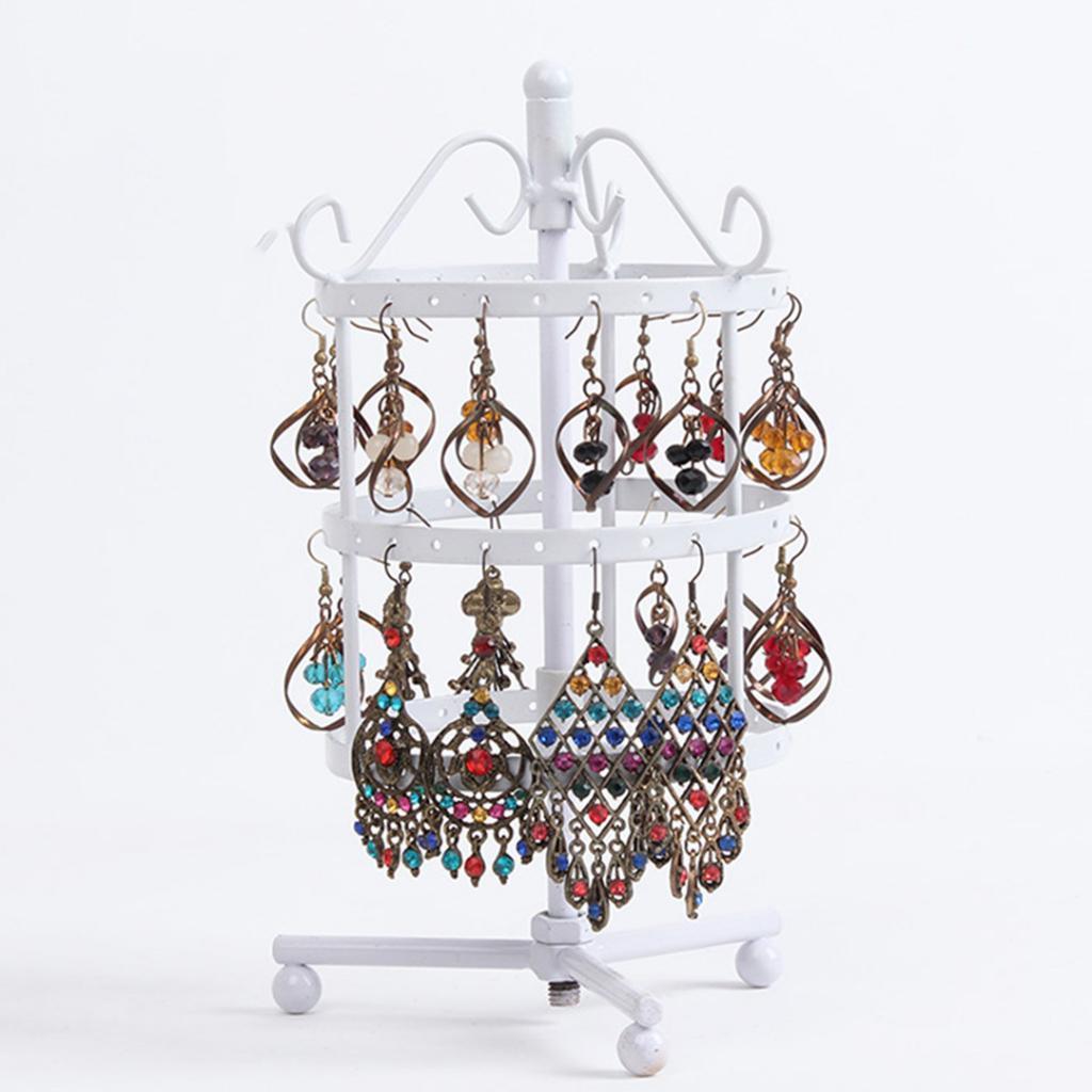 Presentoirs-Boucles-d-039-Oreilles-Rotatif-3-Couches-en-Cuivre-Affichage-de-Bijoux miniature 11