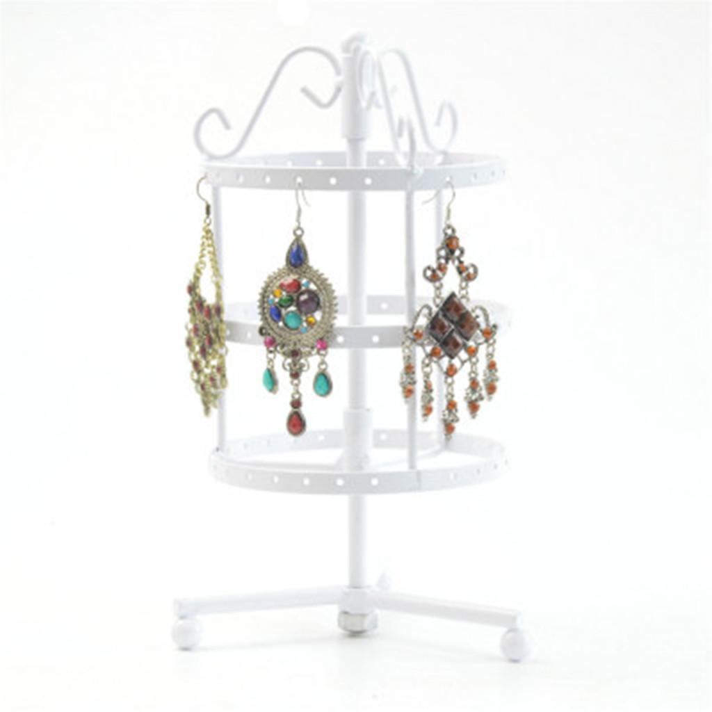 Presentoirs-Boucles-d-039-Oreilles-Rotatif-3-Couches-en-Cuivre-Affichage-de-Bijoux miniature 14
