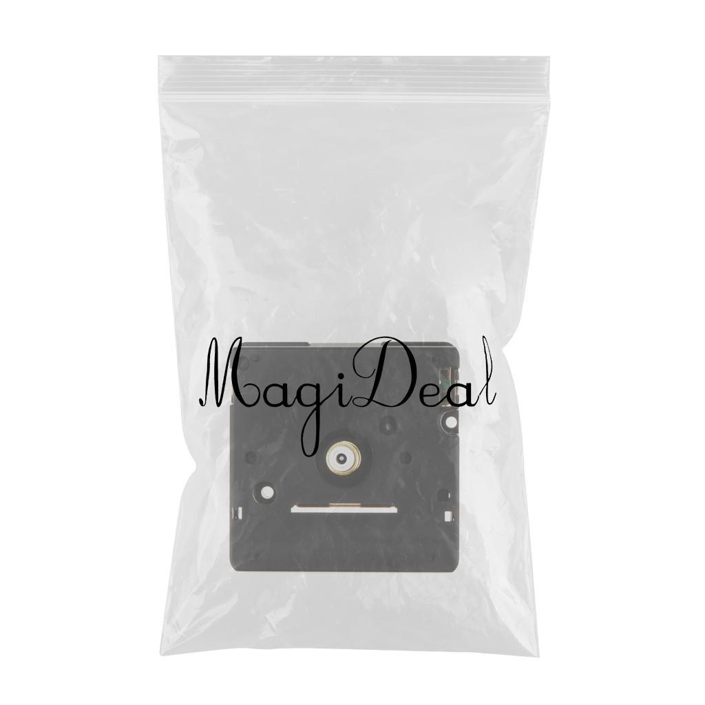 Plastic Black Quartz Clock Movement Replace Repair DIY Clock Part Accessory KS302J 16mm Long Shank Repair