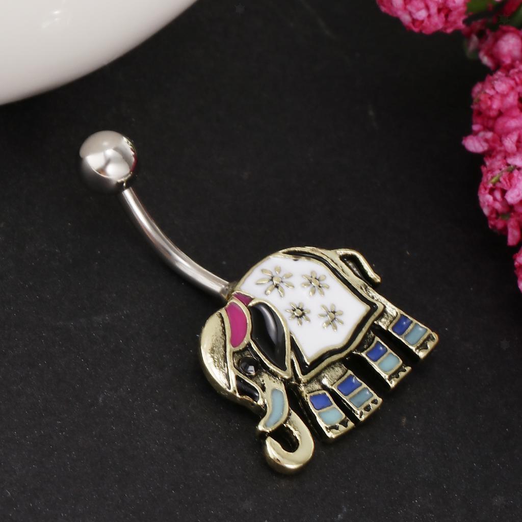 Anello-Piercing-per-Ombelico-in-Acciaio-Inox-con-Cristallo-Monili-Penetranti miniatura 15