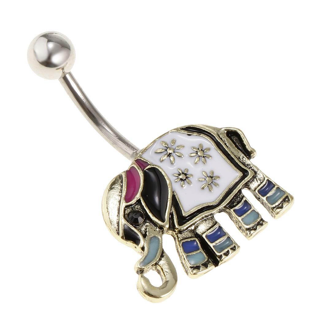 Anello-Piercing-per-Ombelico-in-Acciaio-Inox-con-Cristallo-Monili-Penetranti miniatura 16