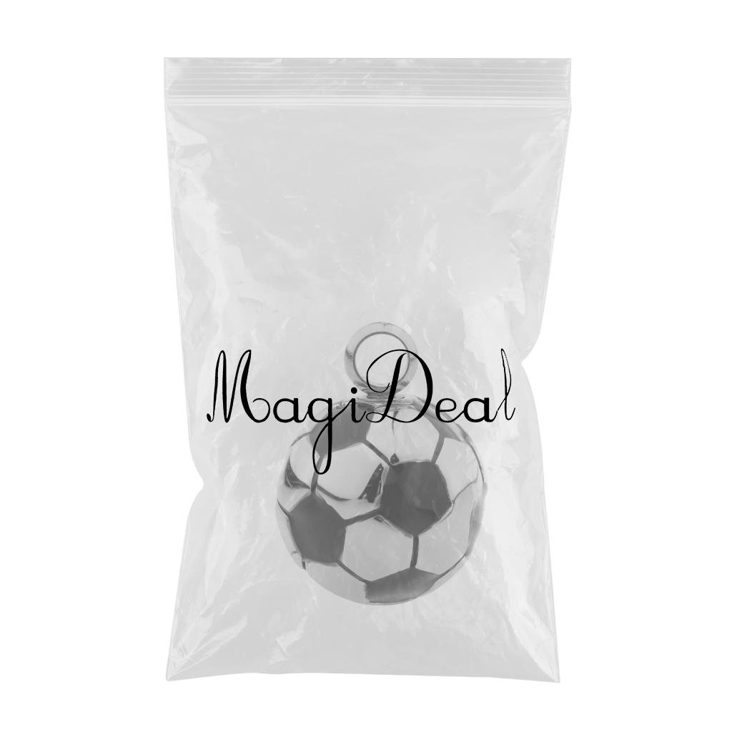 Stainless Steel Football Shape Ash Urn Pendant Memorial Cremation Jewelry