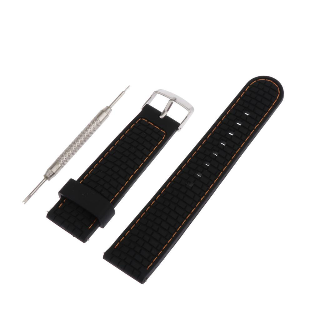 Waterproof-Silicone-Watch-Band-Strap-with-Stainless-Steel-Pin-Buckle-22mm thumbnail 25