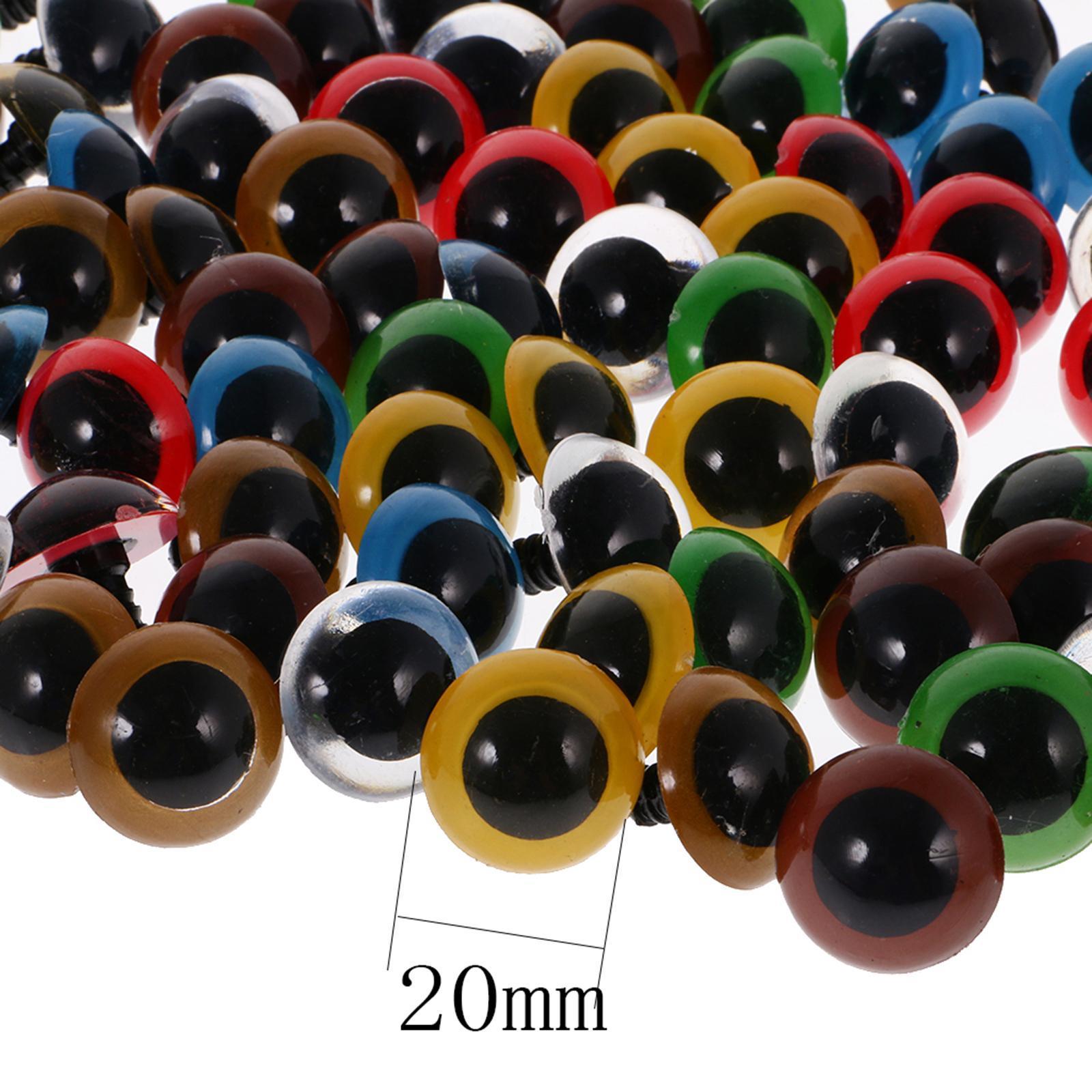 100x Glitzer Sicherheitsaugen Puppenaugen Amigurumi Zubehör DIY 10mm Bunt