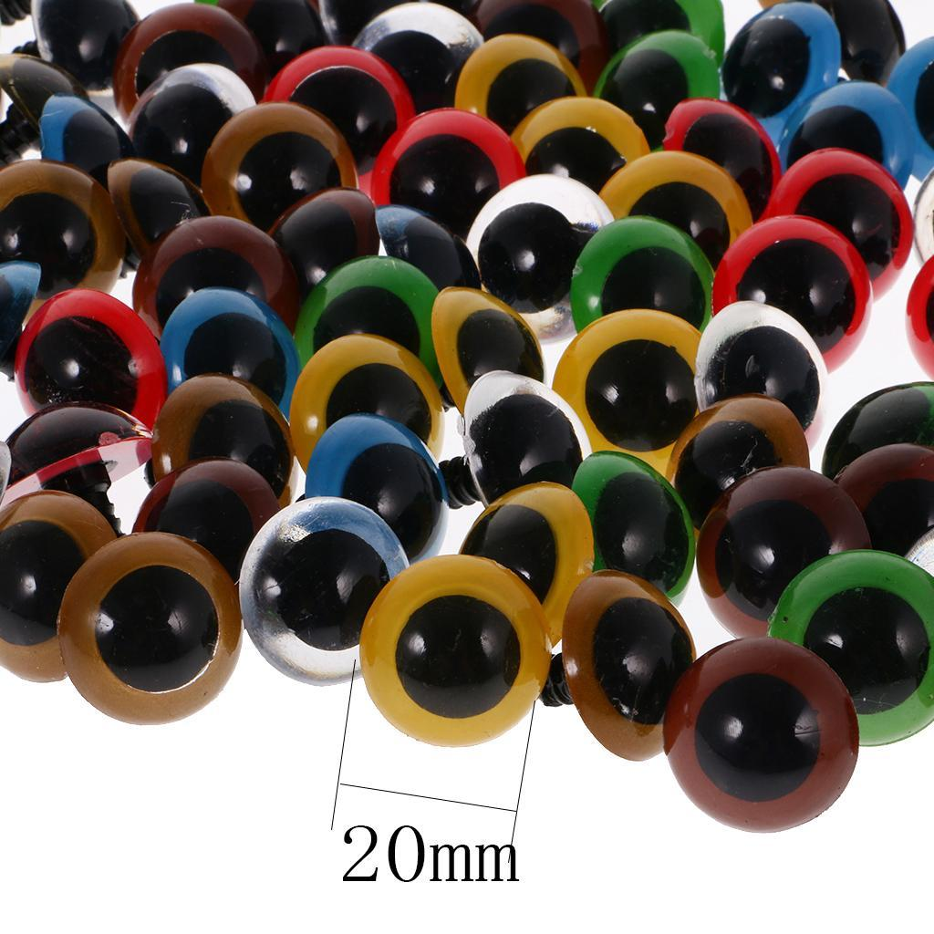 100pcs-6-20mm-Safety-EYES-with-BACKS-for-Teddy-Bear-Soft-Toy-Doll-DIY-Making thumbnail 41