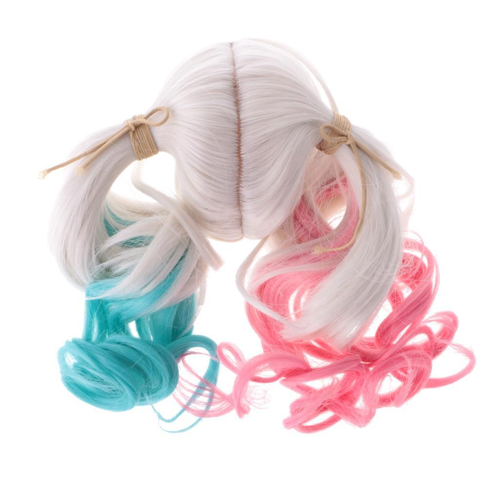 Straight-Gradient-Curly-Hair-Wig-for-18-039-039-Doll-Dress-up-Accessory thumbnail 52